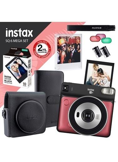Fujifilm instax SQ 6 Ruby Red Fotoğraf Makinesi ve Mega Hediye Seti Kırmızı